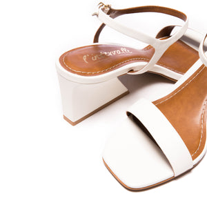 Ignacia White Leather