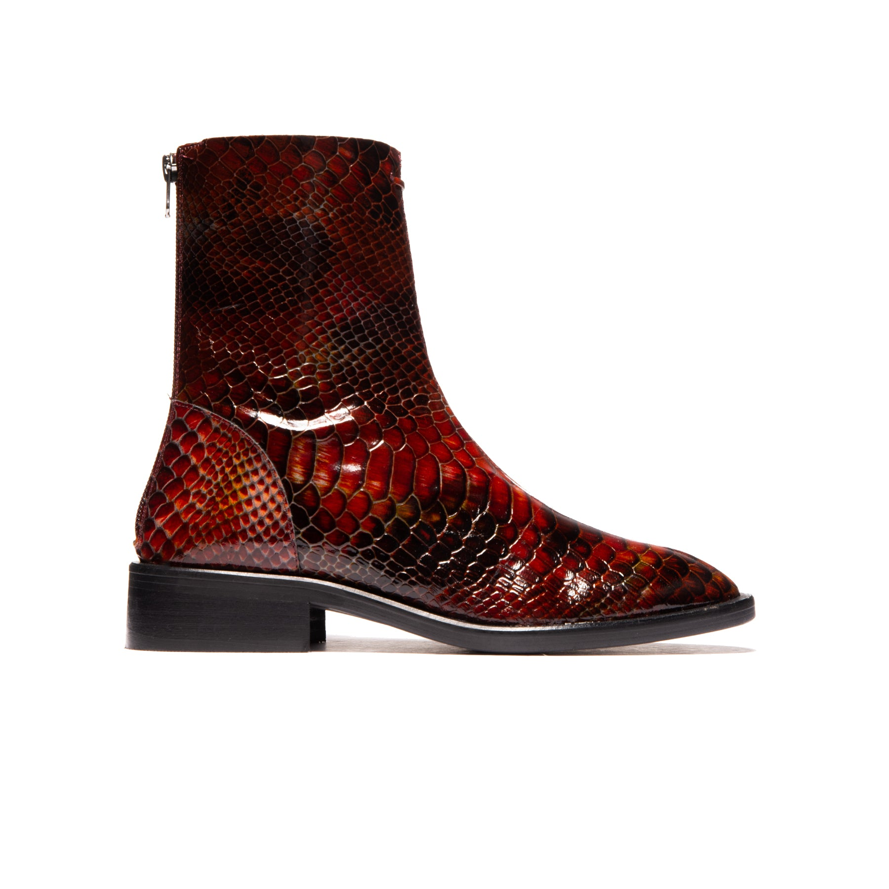 Dalton Vintage Red Snake Leather
