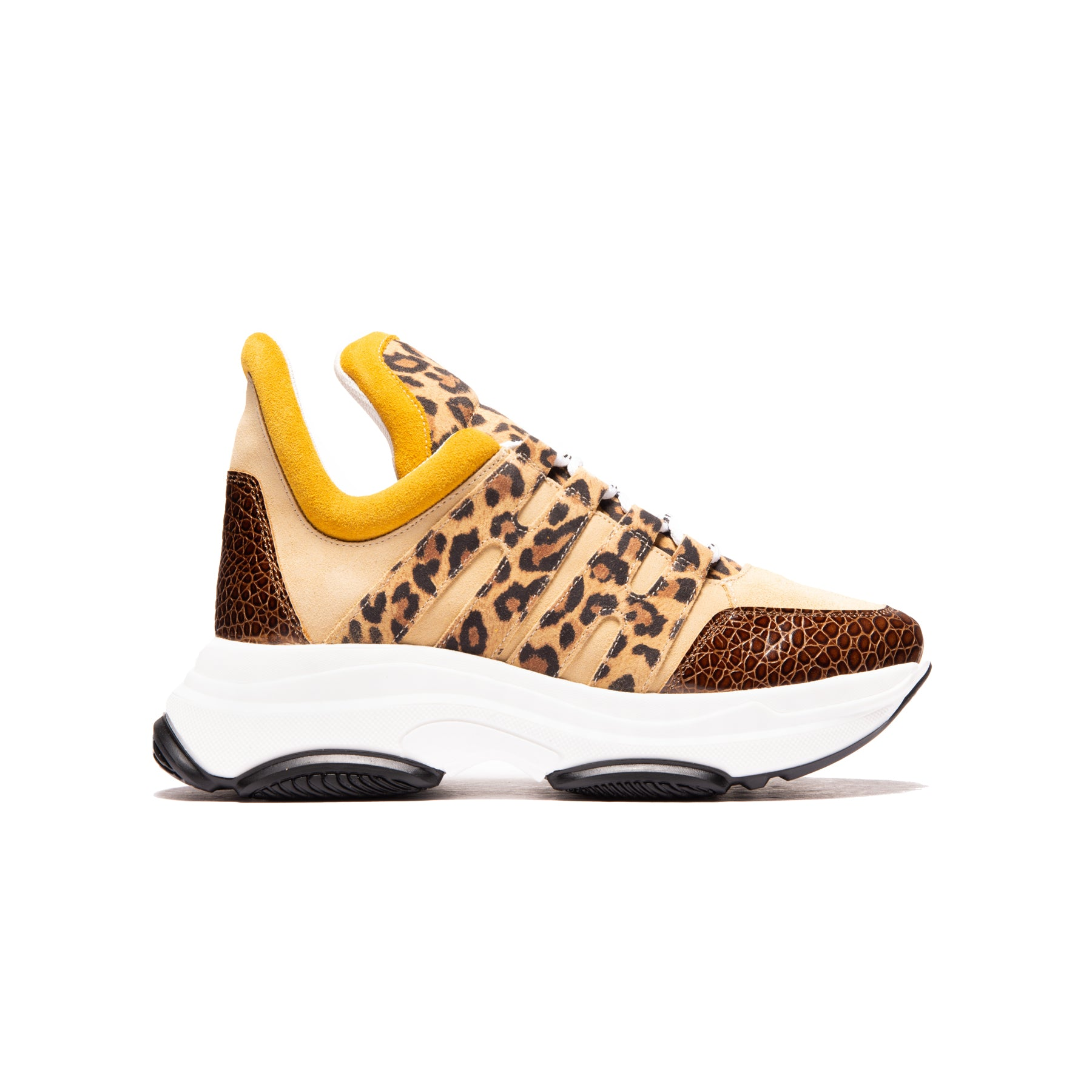 Dolphin Brown Leopard/Suede