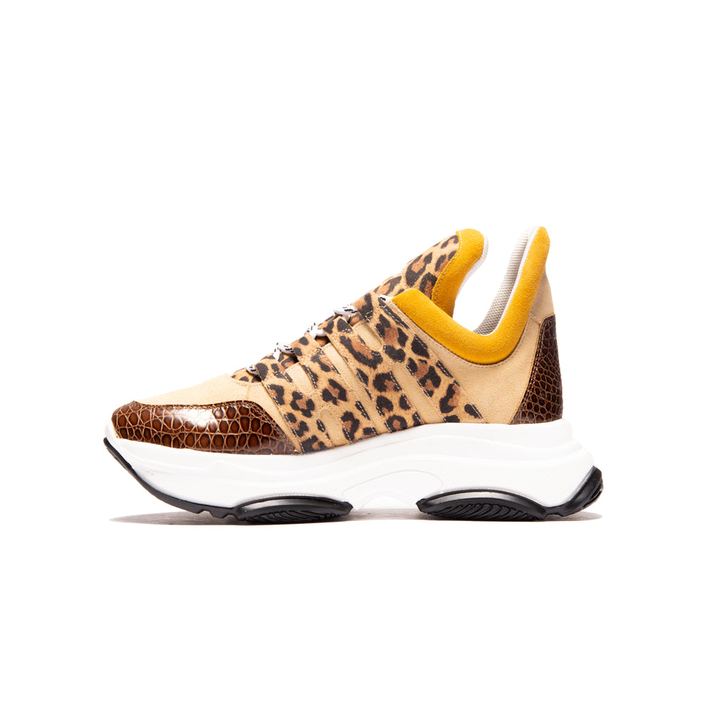 Load image into Gallery viewer, Dolphin Brown Leopard/Suede