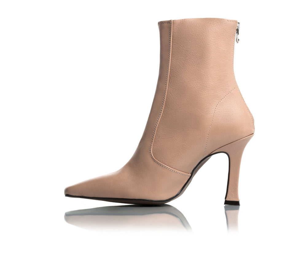 Dukette Blush Leather Boots