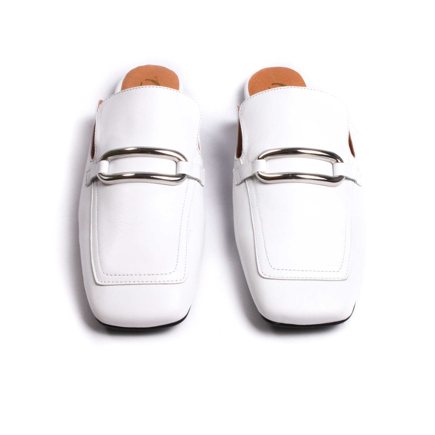 Ecru White Leather
