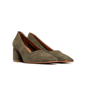 Load image into Gallery viewer, Effy Khaki Suede