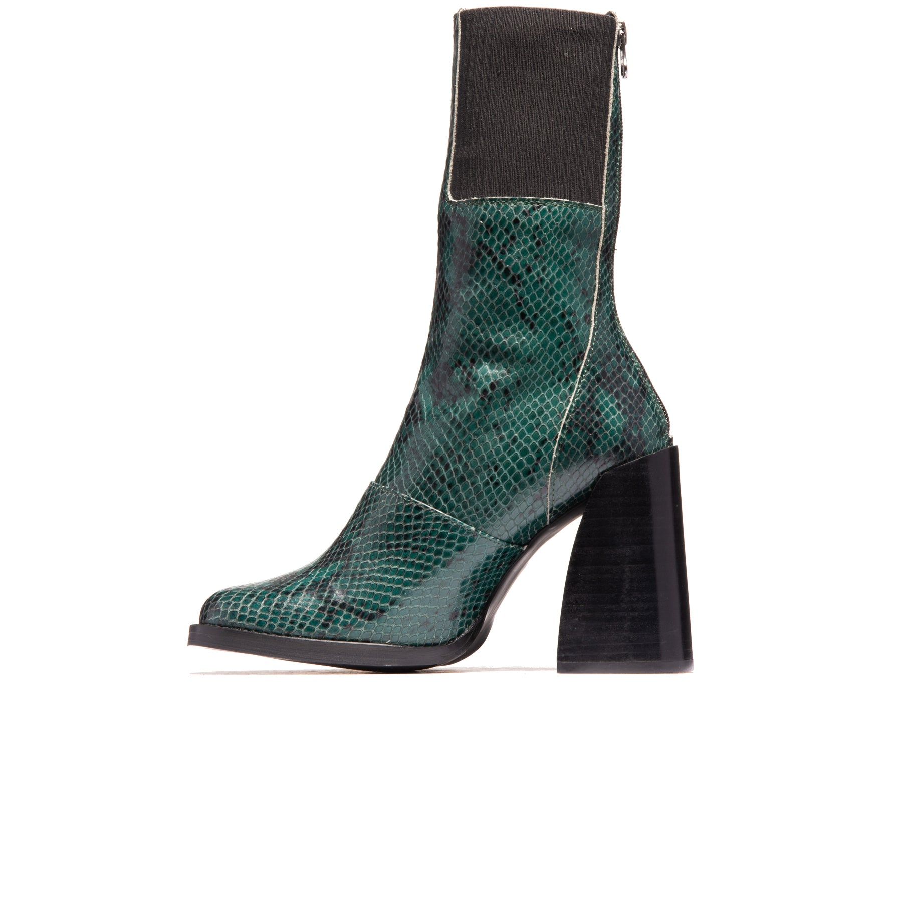 Elmers Dark Green Snake Leather