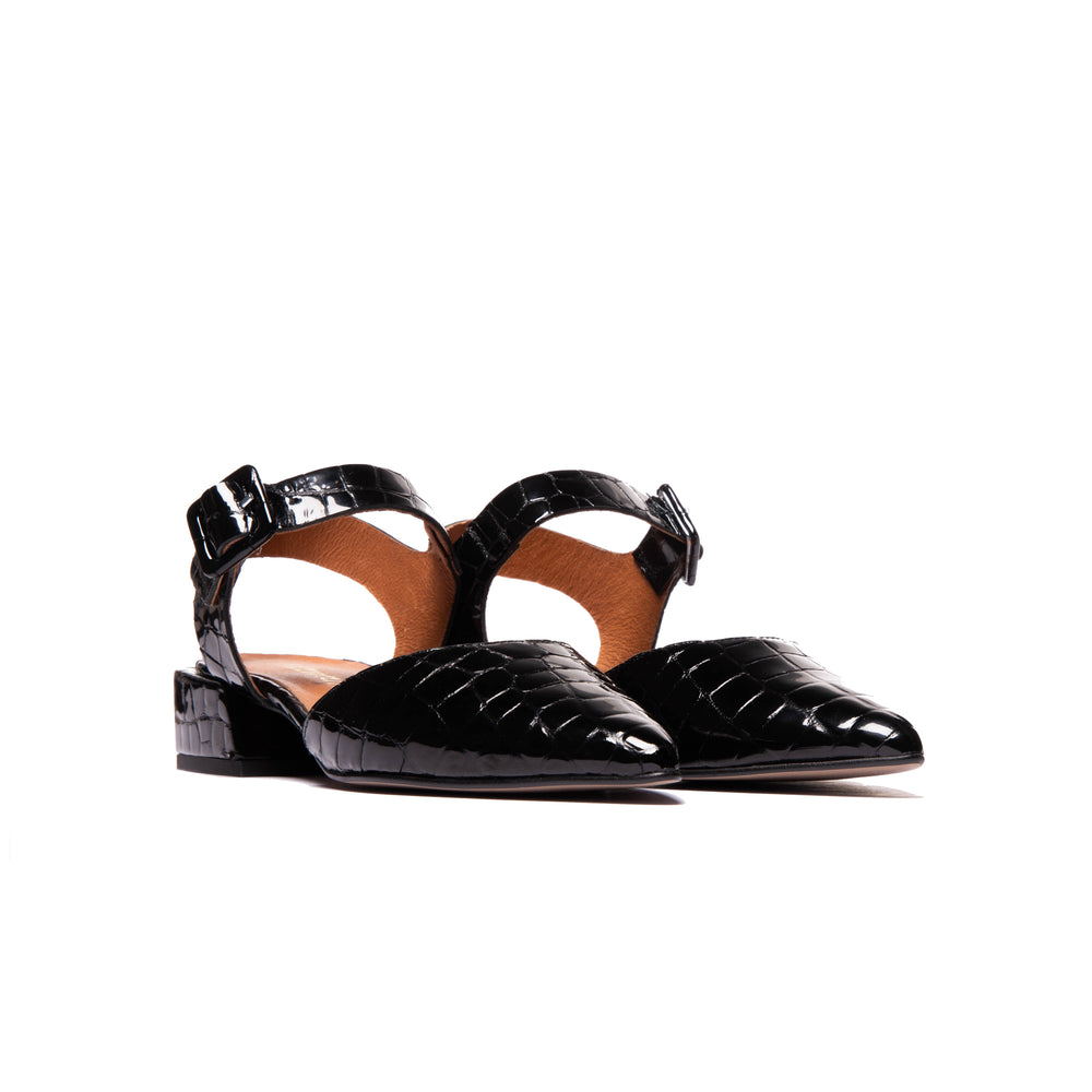Evi Black Croco- SOLD OUT