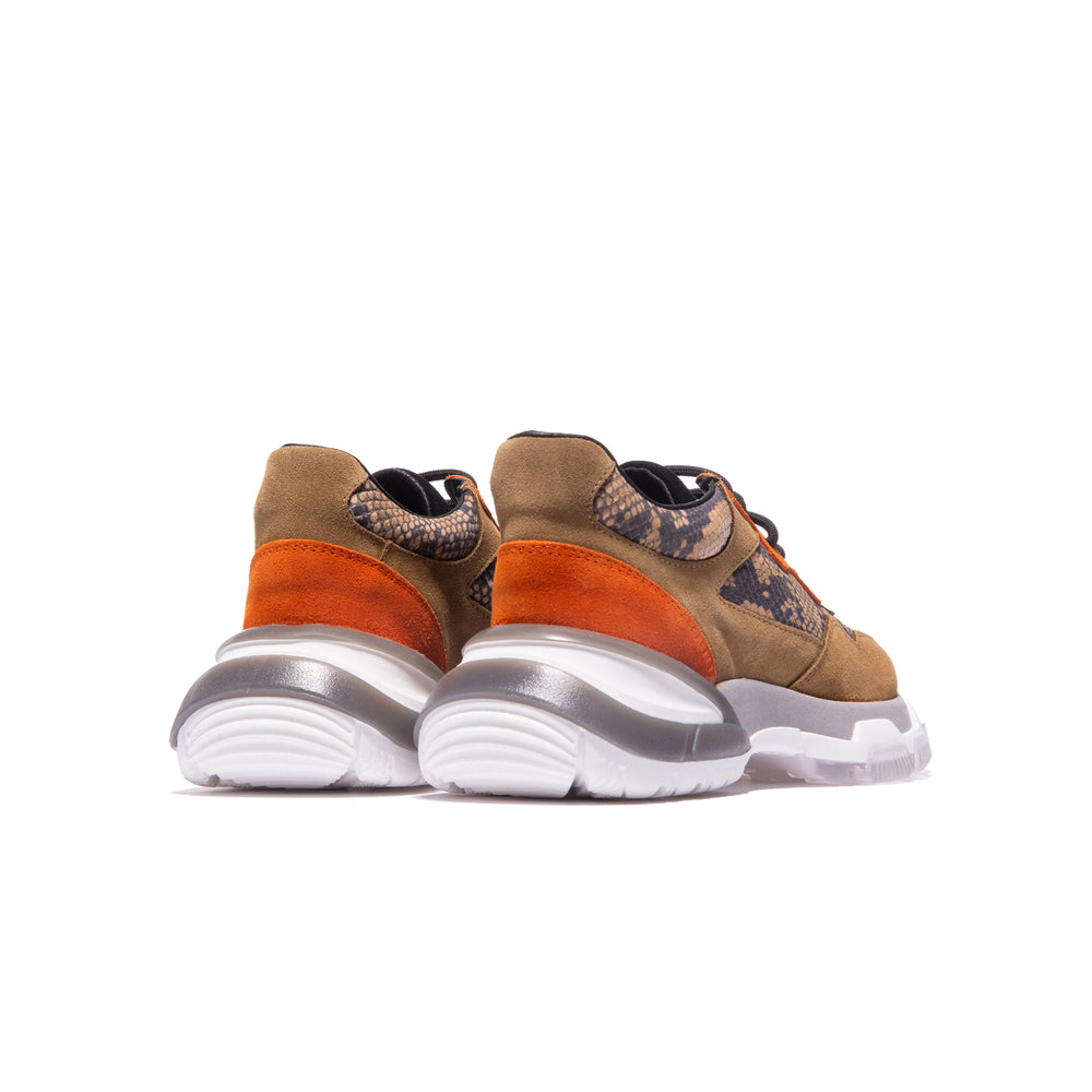 Fab Brown Snake/Orange Suede