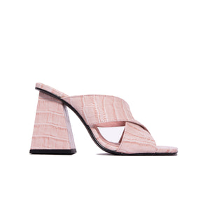 Load image into Gallery viewer, France Pale Pink Croco