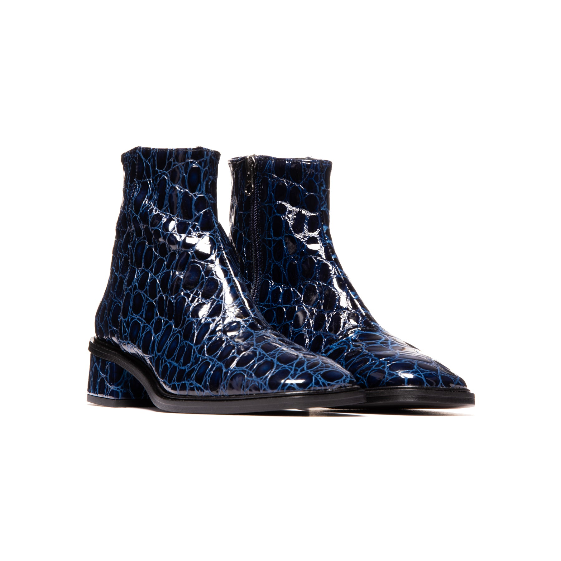 Galway Blue Croco Leather