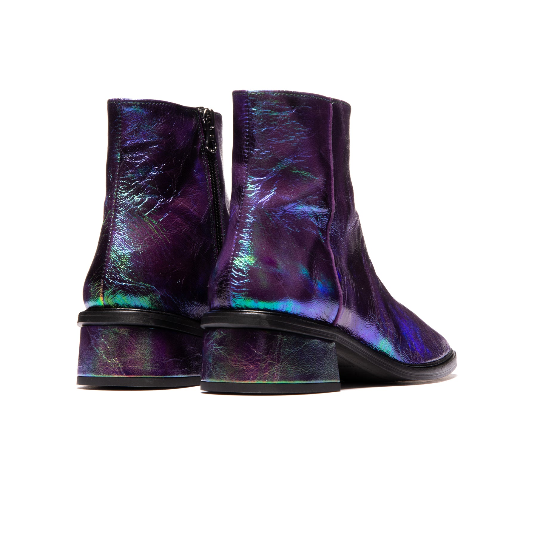 Galway Purple Metallic Leather