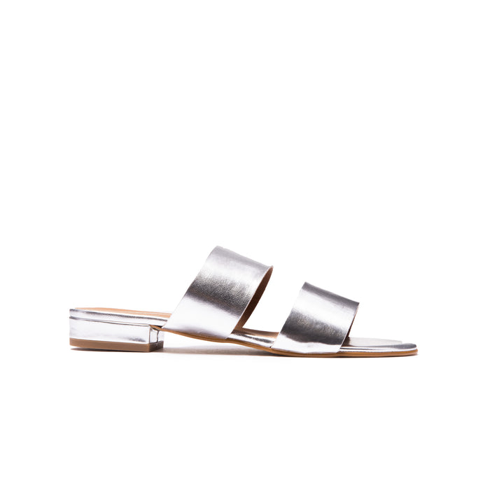 Giselle Silver Leather