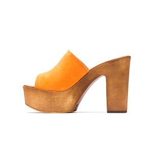 Load image into Gallery viewer, Harini Orange Suede