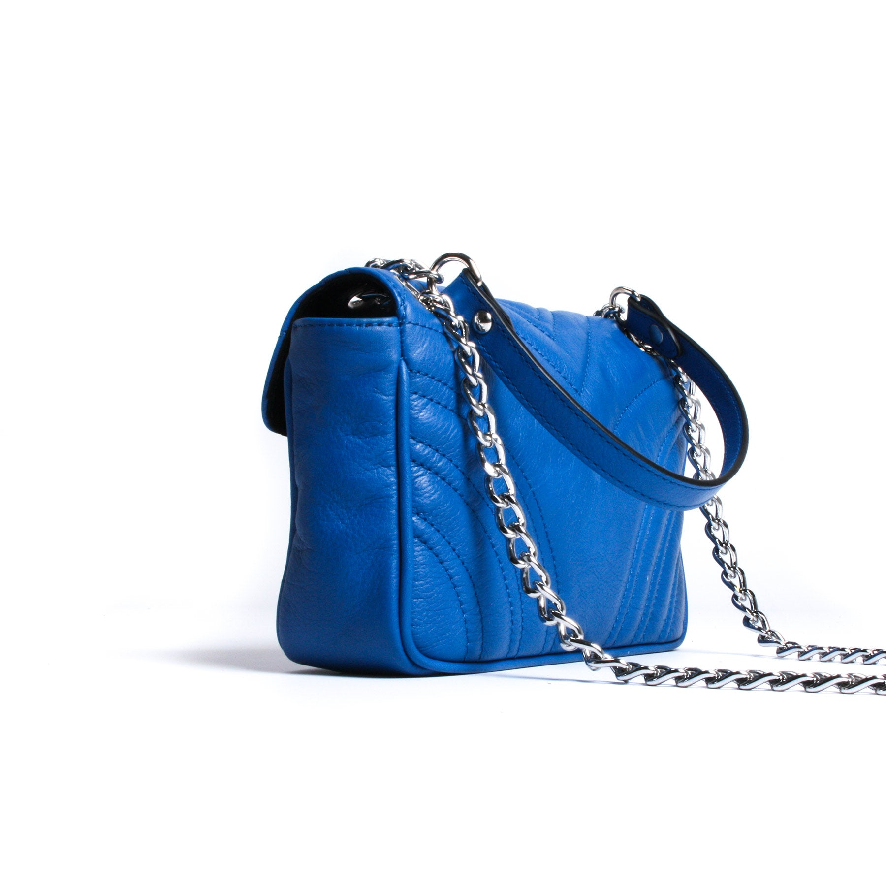 Jule Blue Leather