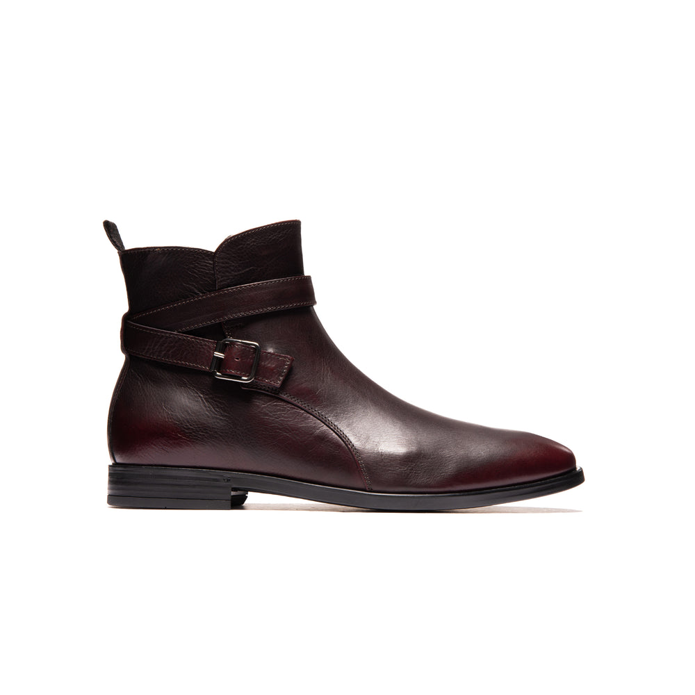 Justin Burgundy Leather