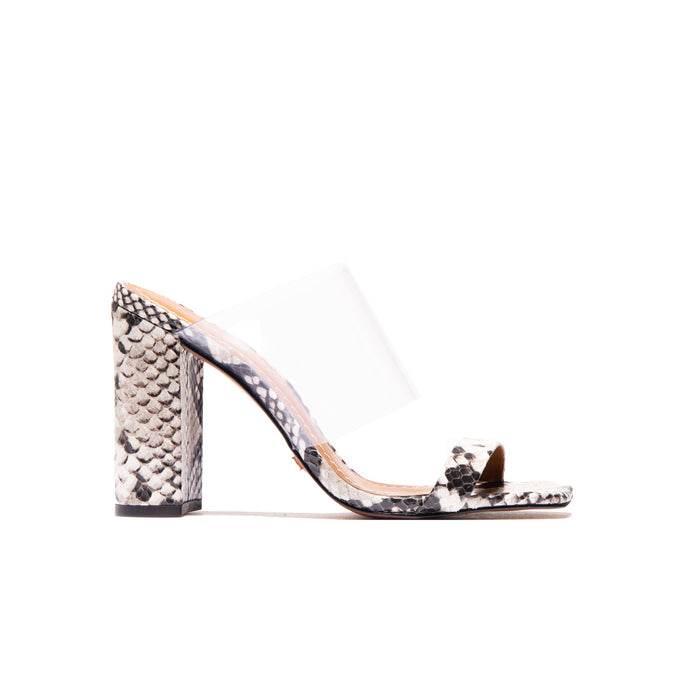 Katrina Light Grey Snake/Clear