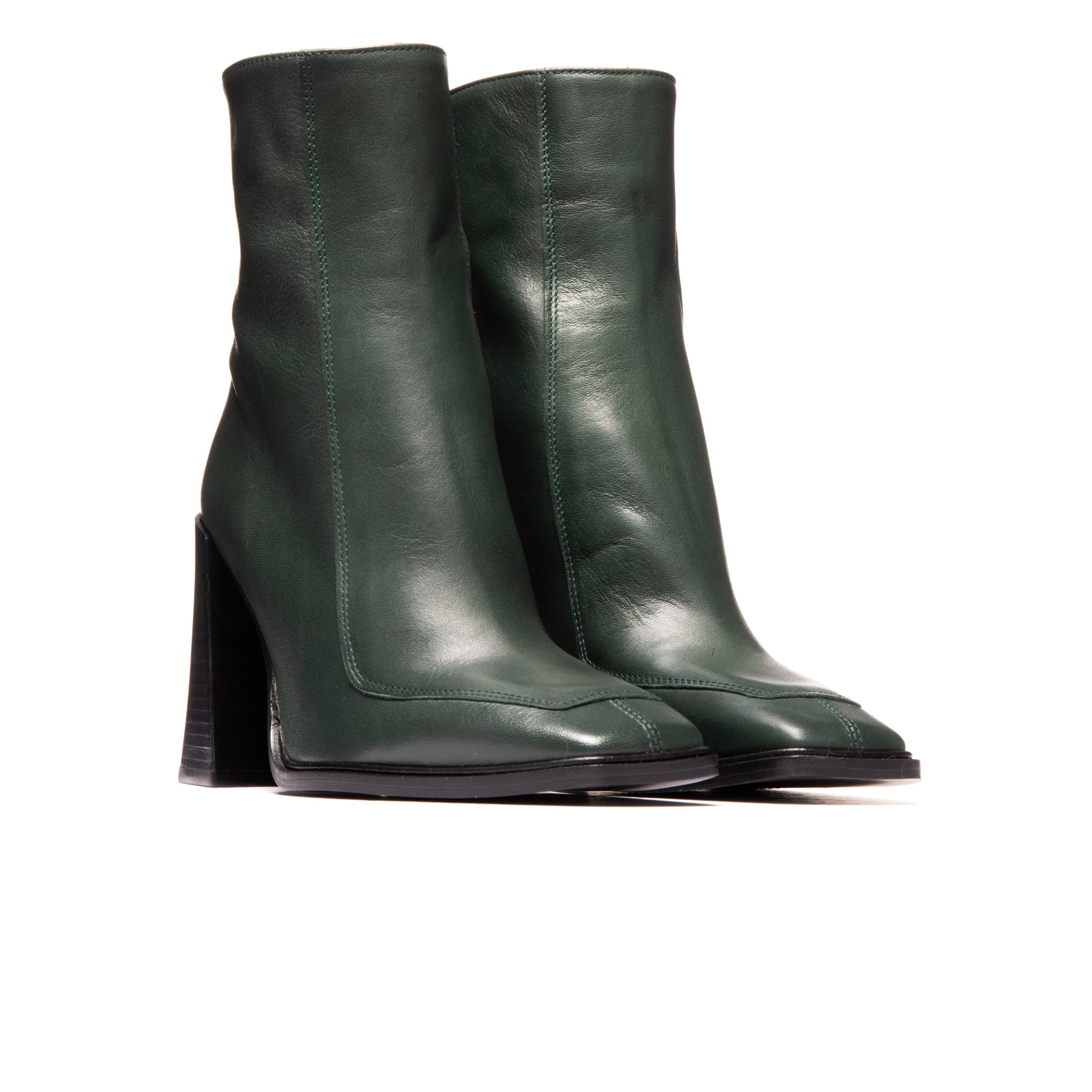 Keel Dark Green Leather