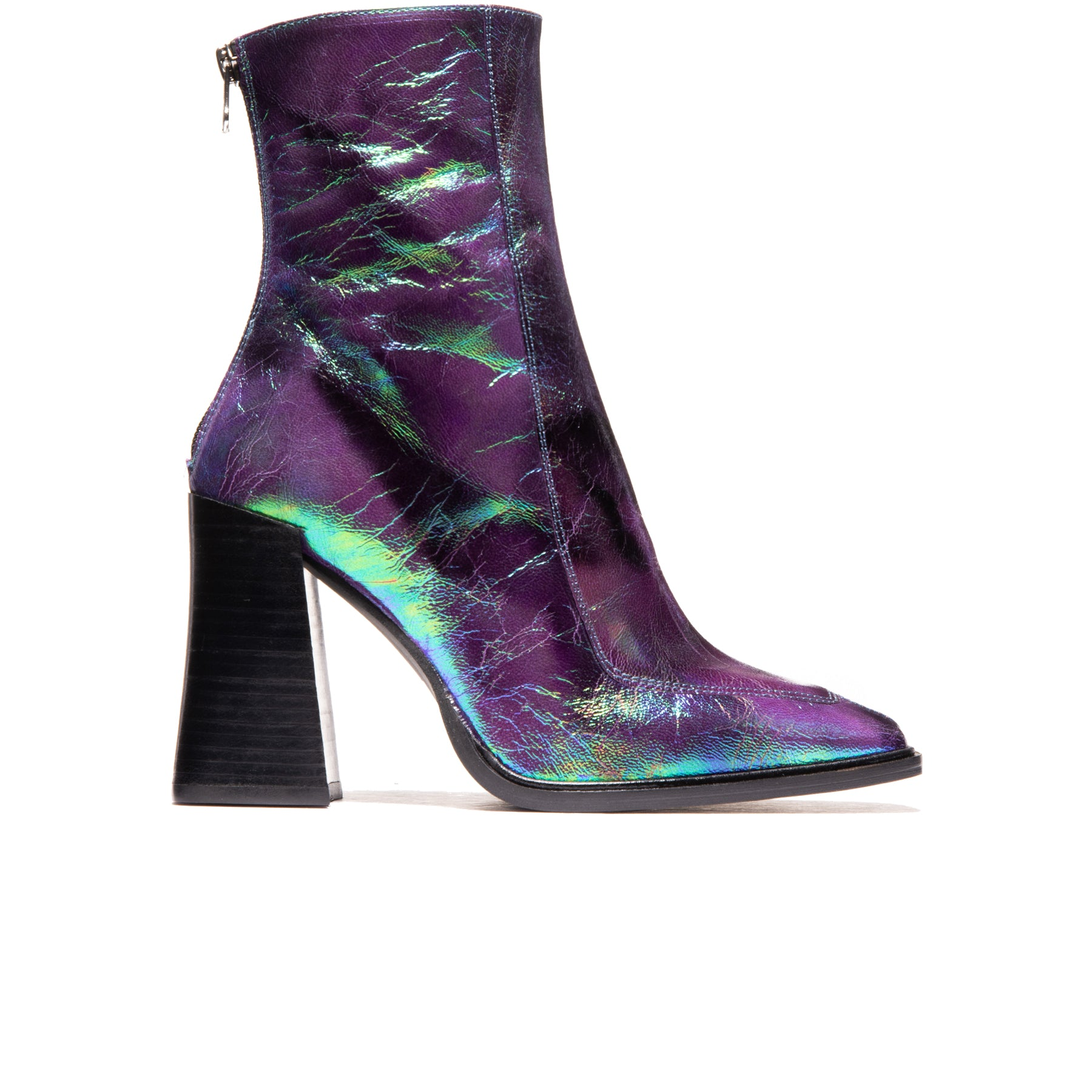Keel Purple Metallic Leather