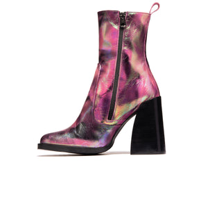 Kensington Fuschia Metallic Leather