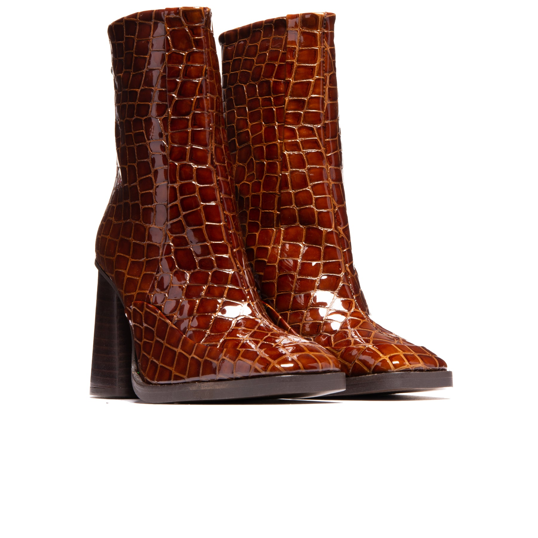 Kingsbury Tan Croco Leather