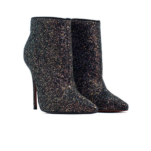 Load image into Gallery viewer, Lucia Black Glitter Ankle Boots