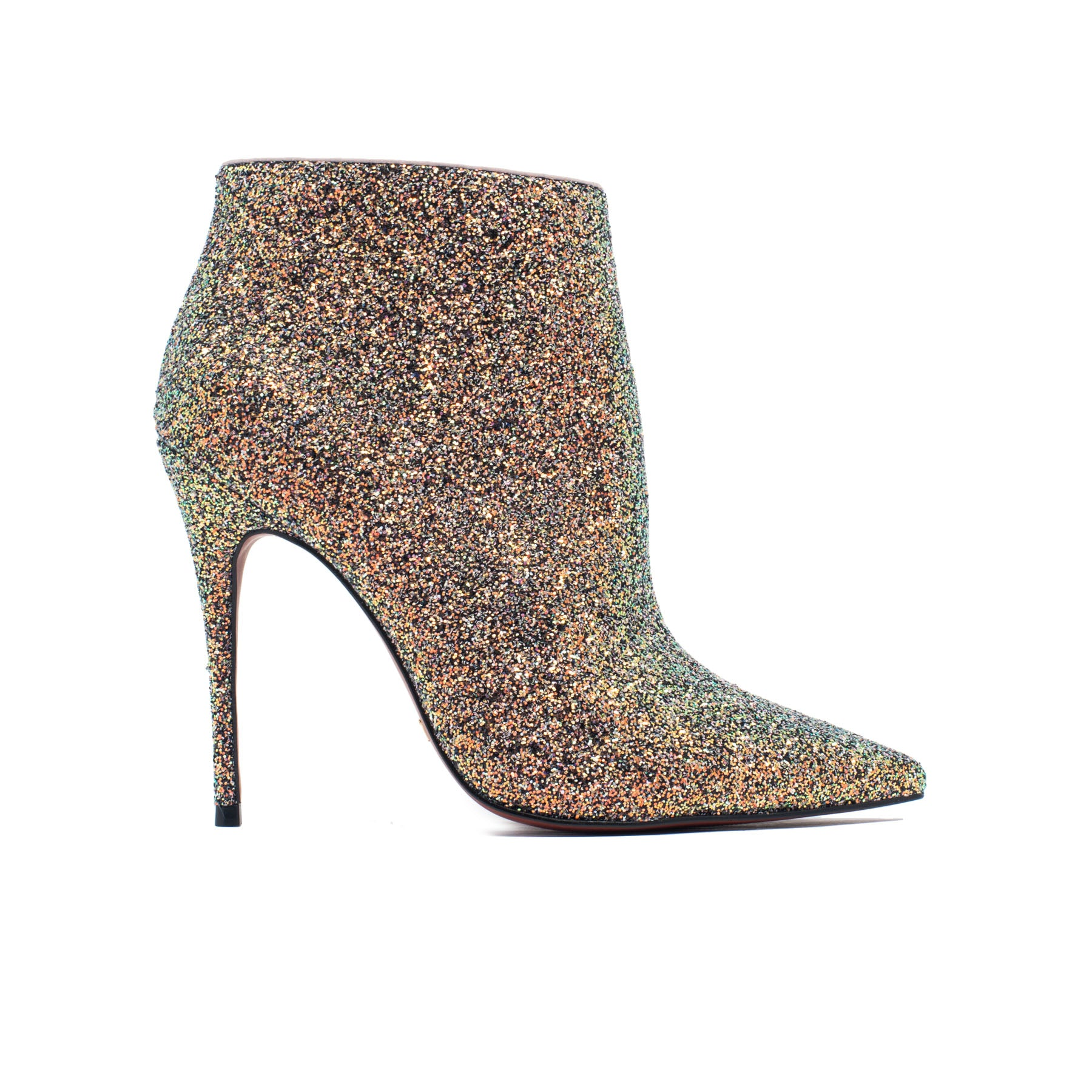 Lucia Champagne Glitter Ankle Boots