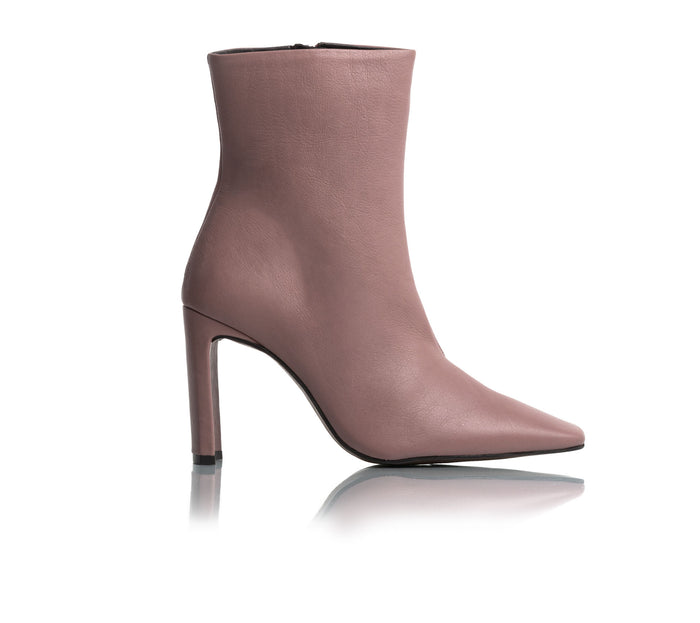 ae1b8542c008 Lyon Dusty Rose Leather Ankle Boots