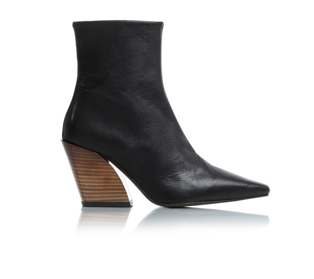 Melibella Black Leather Boots