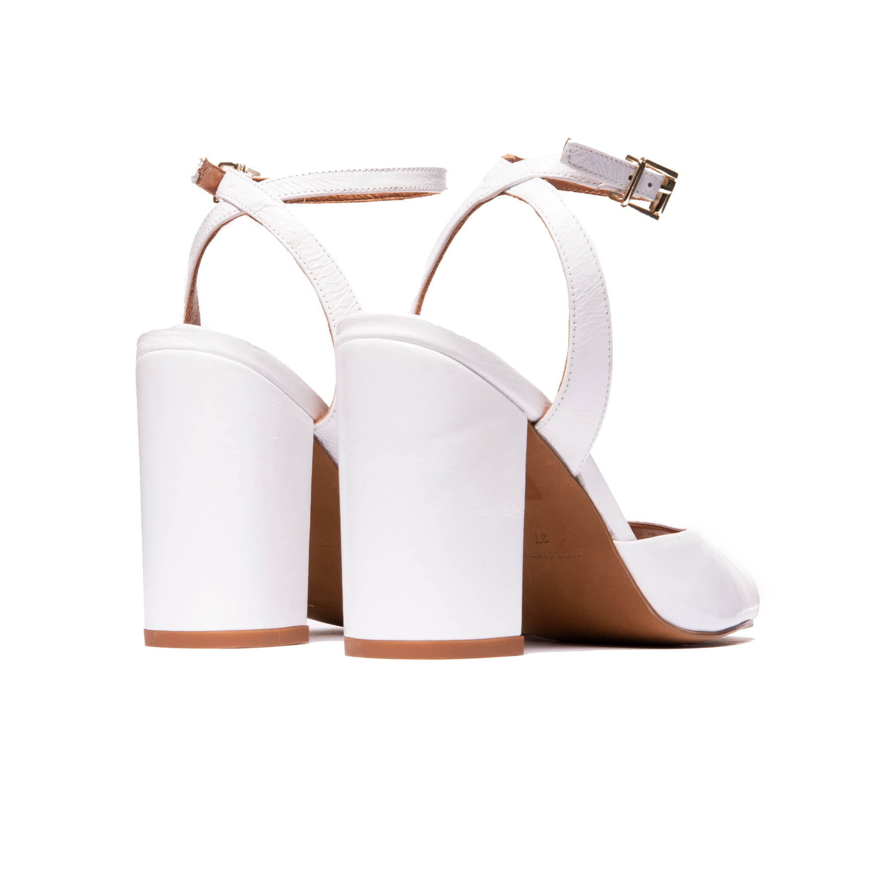 Mira White Leather