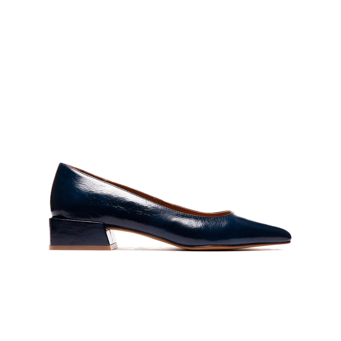 Navia Navy Leather