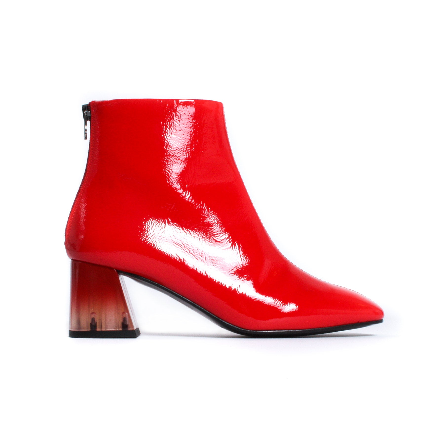Soho Red Patent/Clear Heel