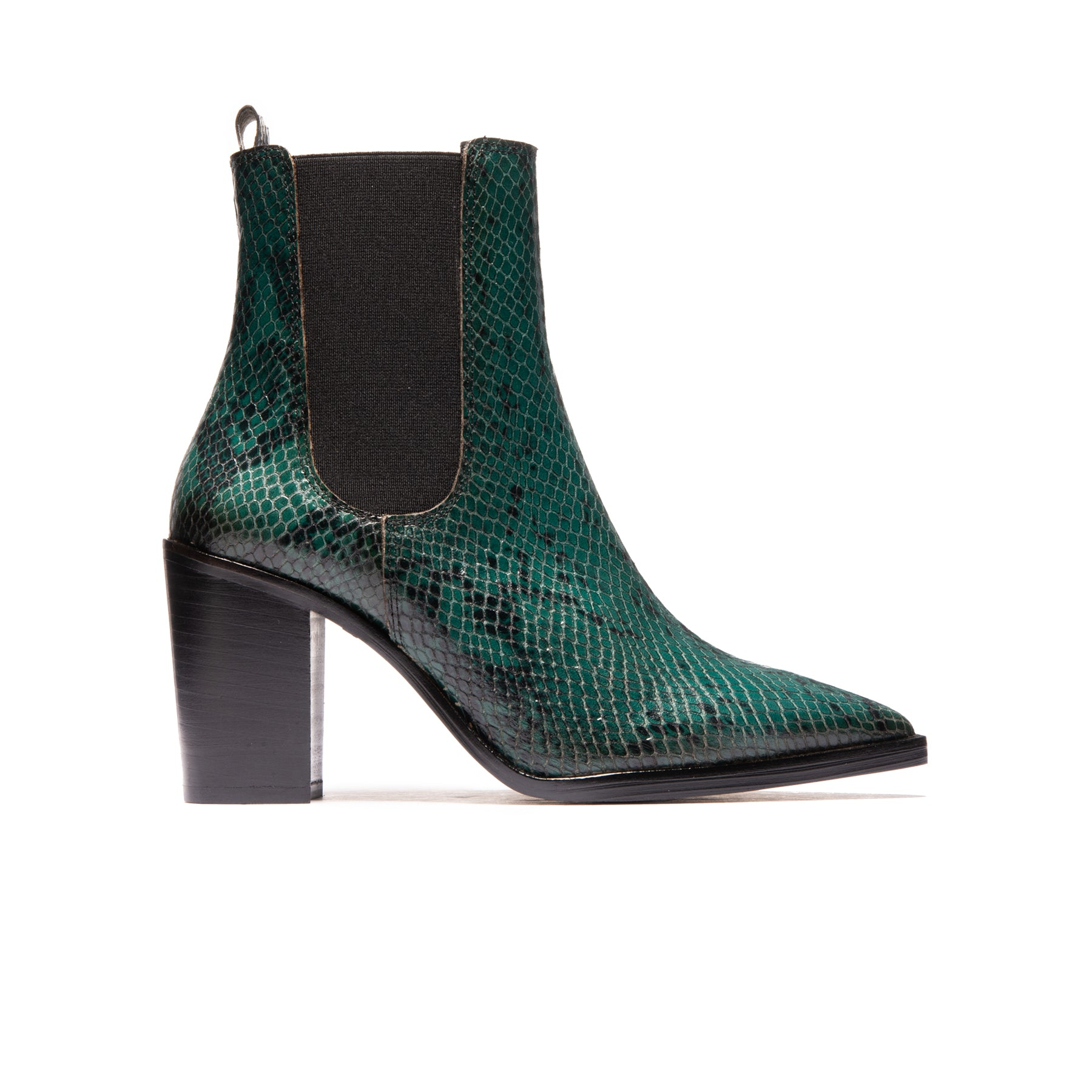 Salvadore Dark Green Snake Leather