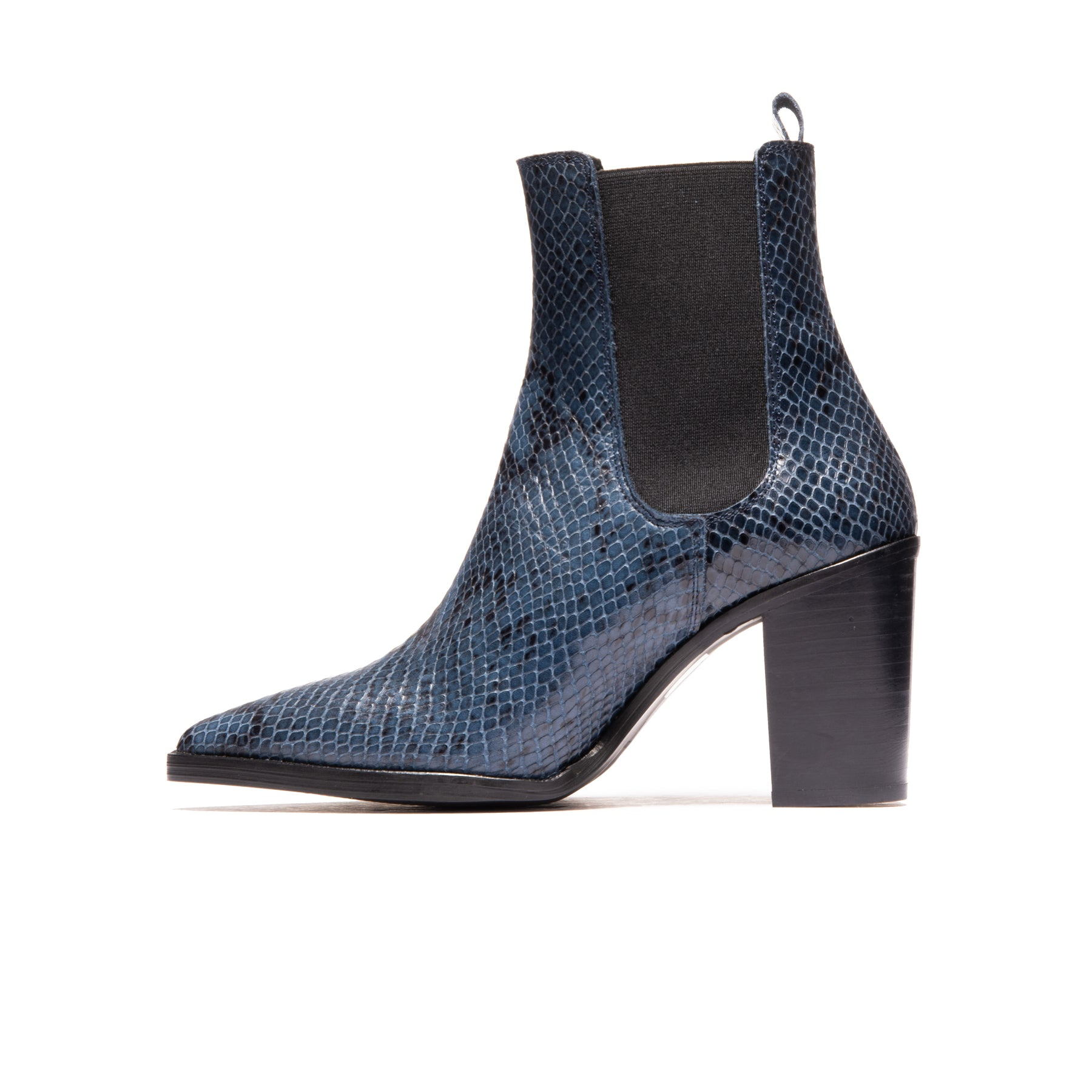 Salvadore Navy Snake Leather