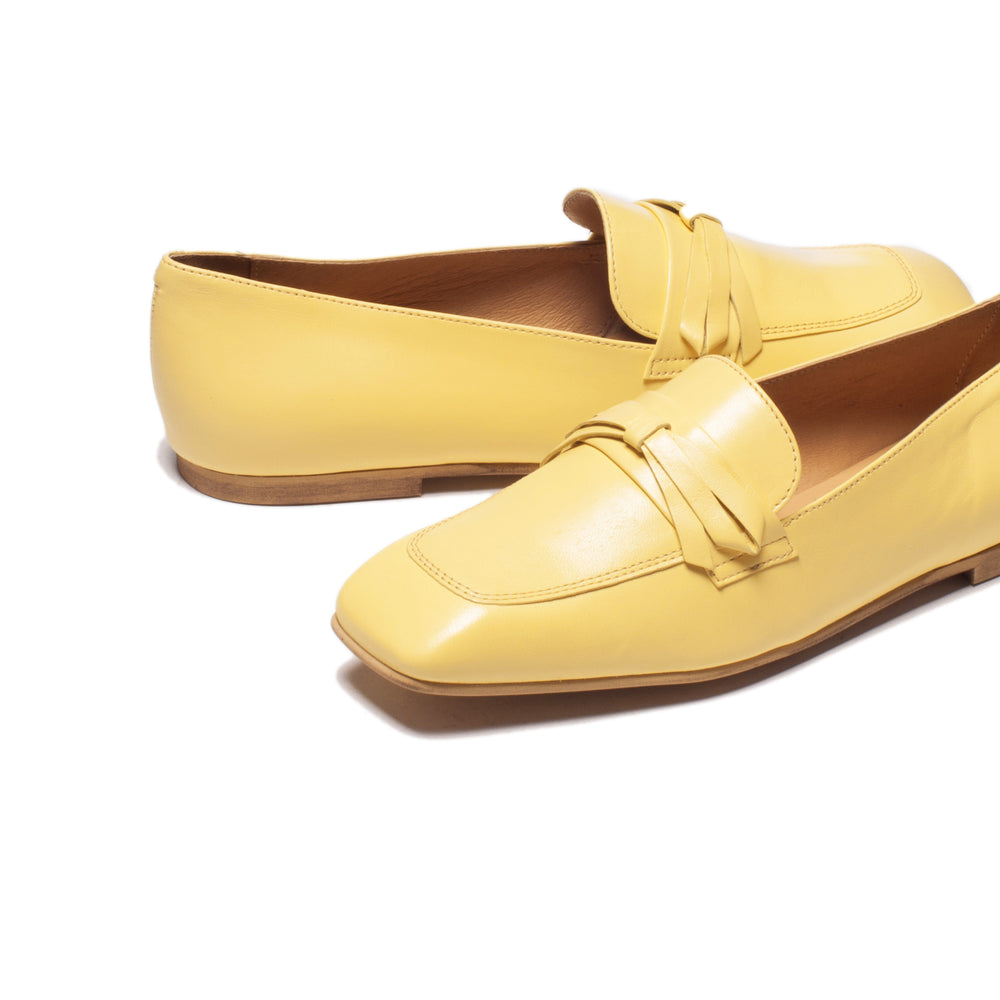 Zarita Yellow Leather