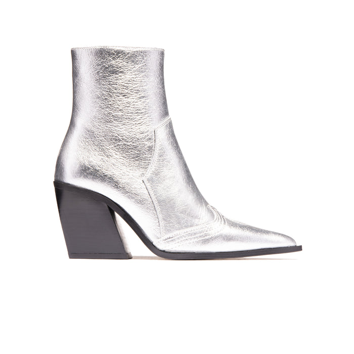 Seville Silver Metallic Leather