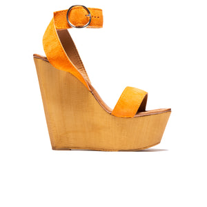 Load image into Gallery viewer, Shams Orange Suede