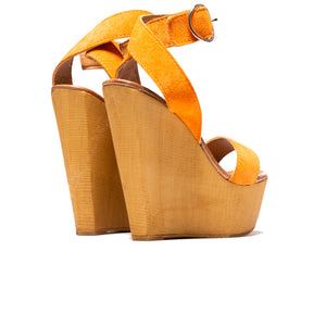 Shams Orange Suede
