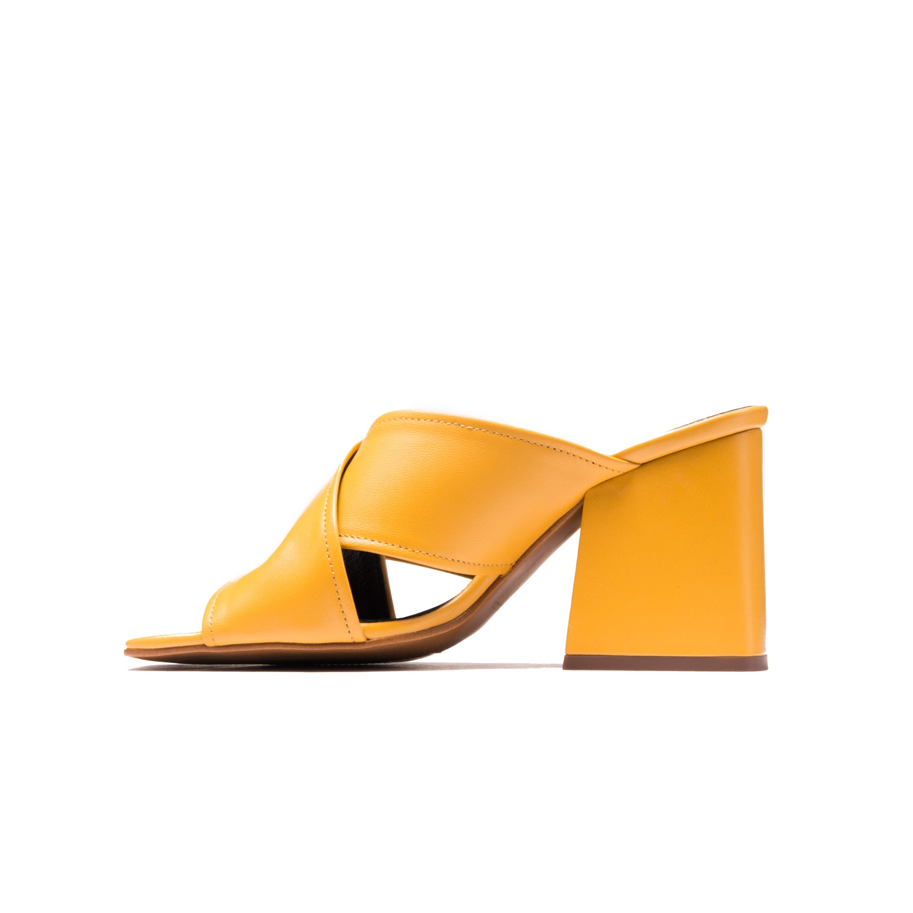 Shannon Yellow Leather