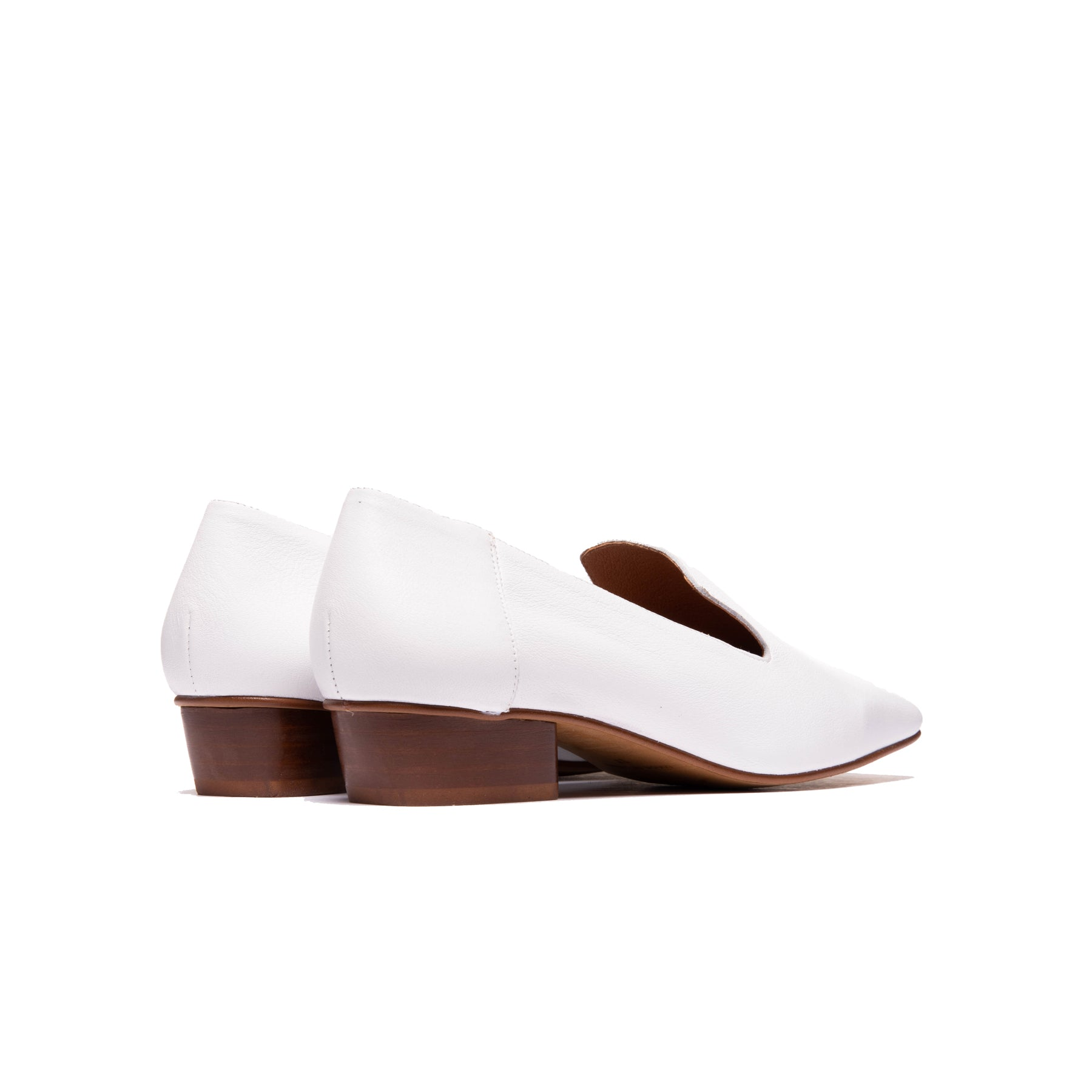 Shaya White Leather