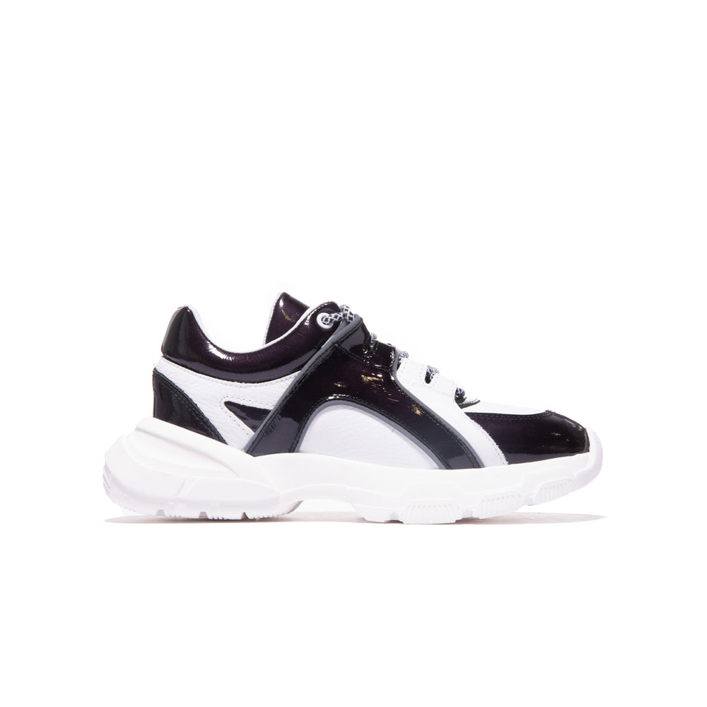 Load image into Gallery viewer, Slick Black/White Patent Leather