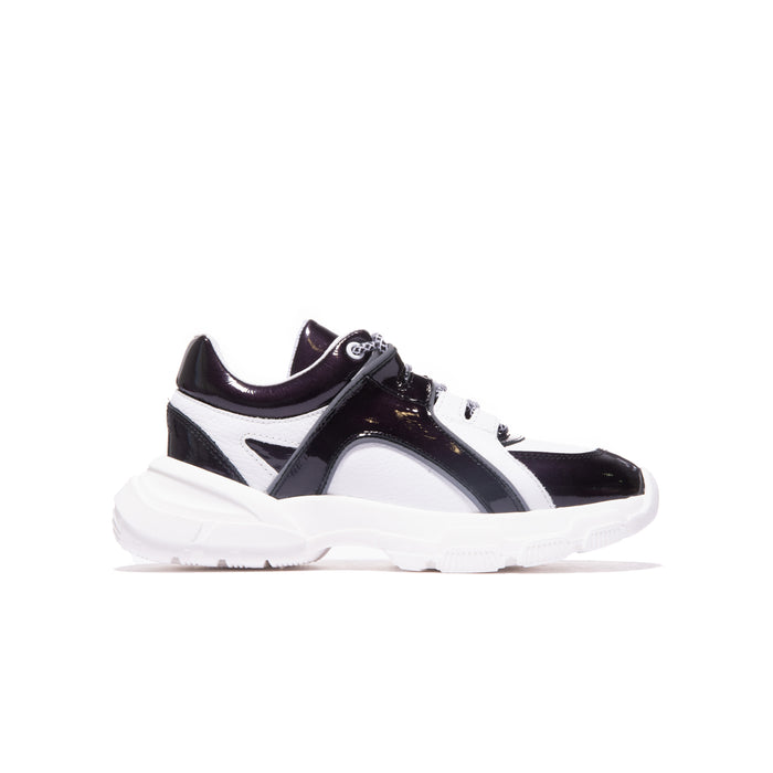 Slick Black/White Patent Leather