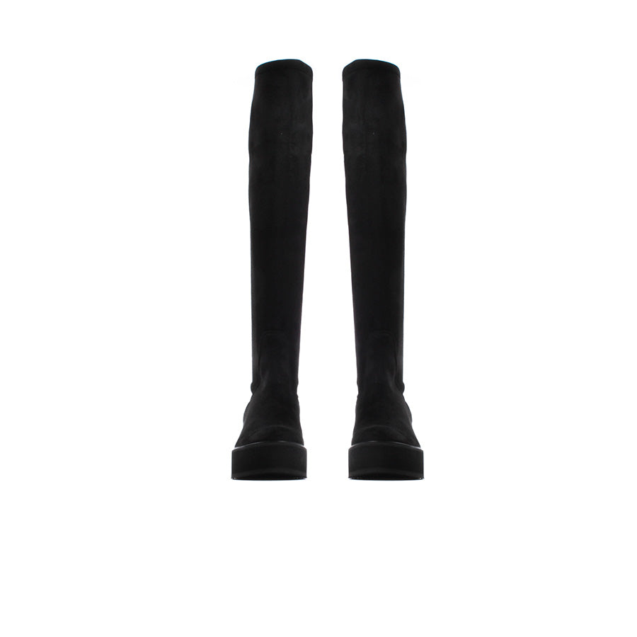 Timy Black Stretch-Suede