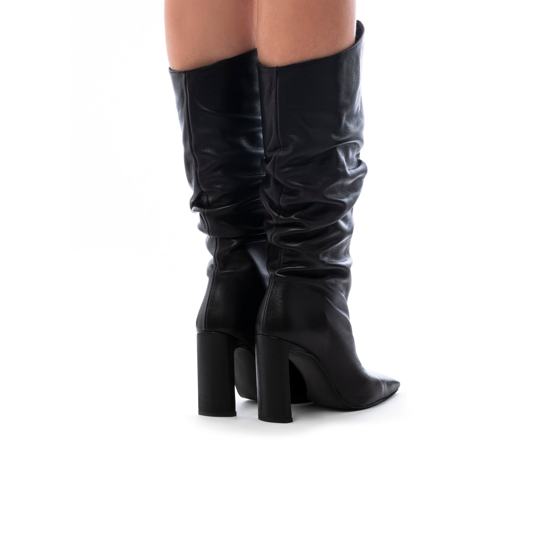 Yerevan Black Leather Boots