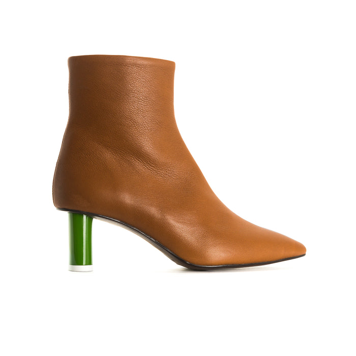 Abigail Tan Leather Ankle Boots