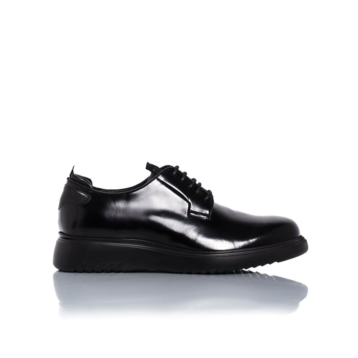 Alessio Black Leather Shoes