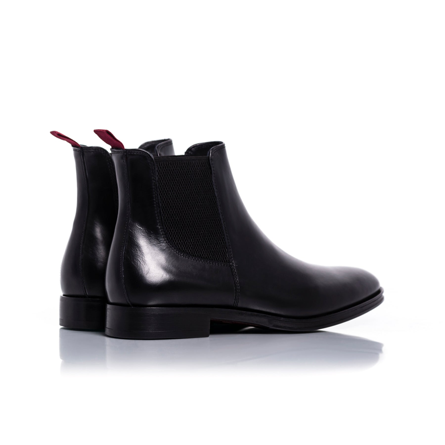 Alfonso Black Leather Boots