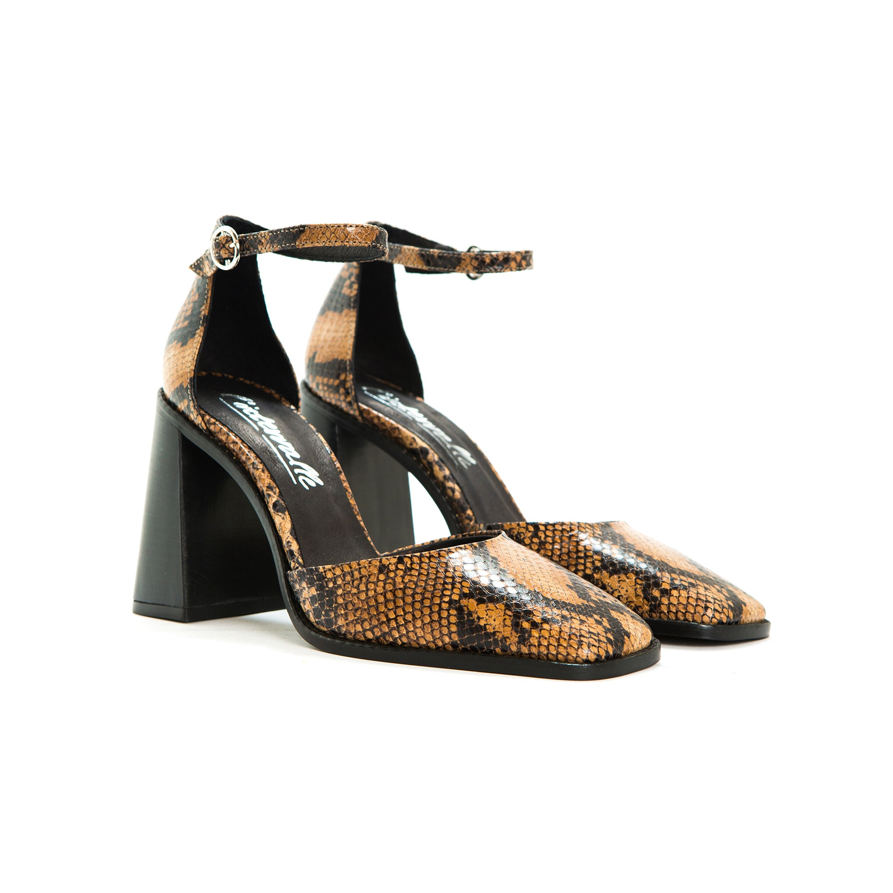 Annetta  Tan Snake Leather