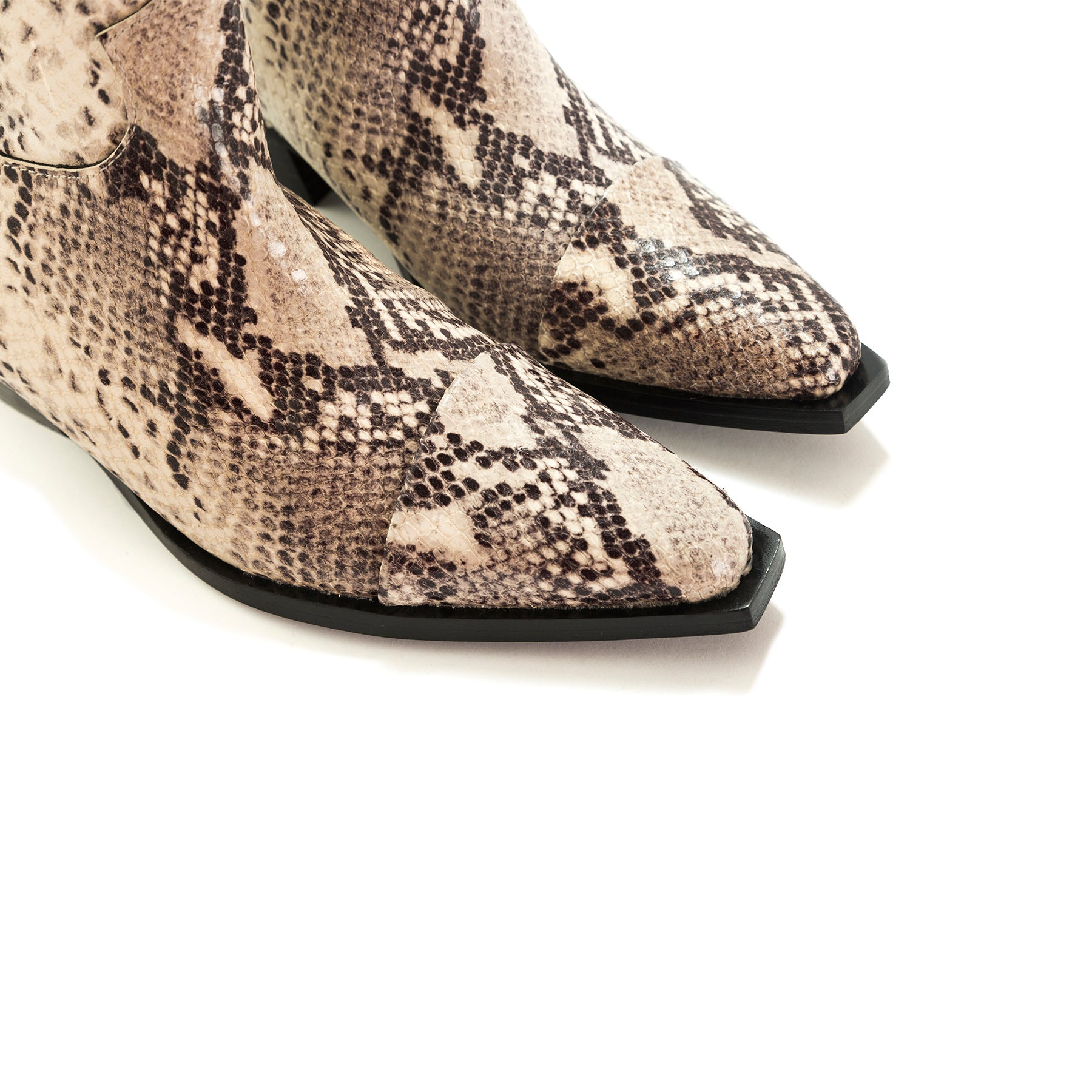 Annamaria Natural Snake Ankle Boots