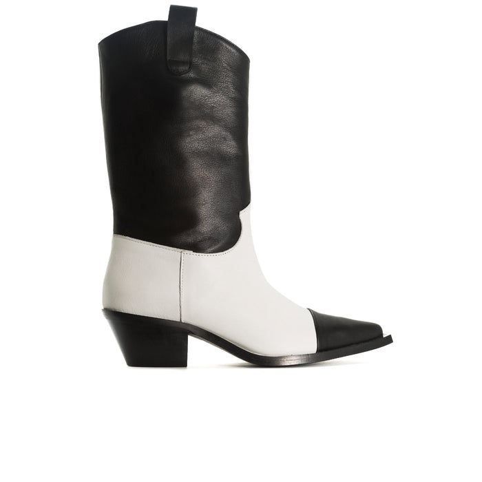 Annamaria Black & White Leather