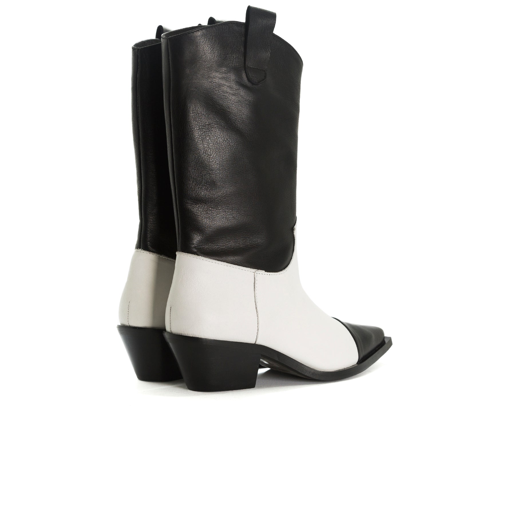 Annamaria Black&White Leather Ankle Boots