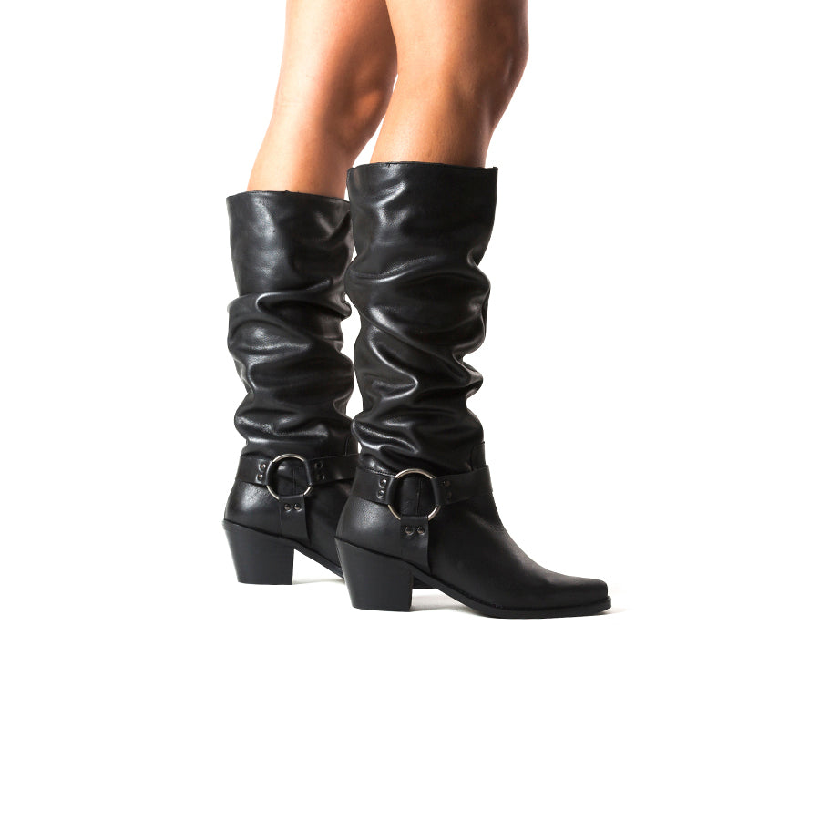 Arsta Black Leather Boots