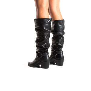 Load image into Gallery viewer, Arsta Black Leather Boots